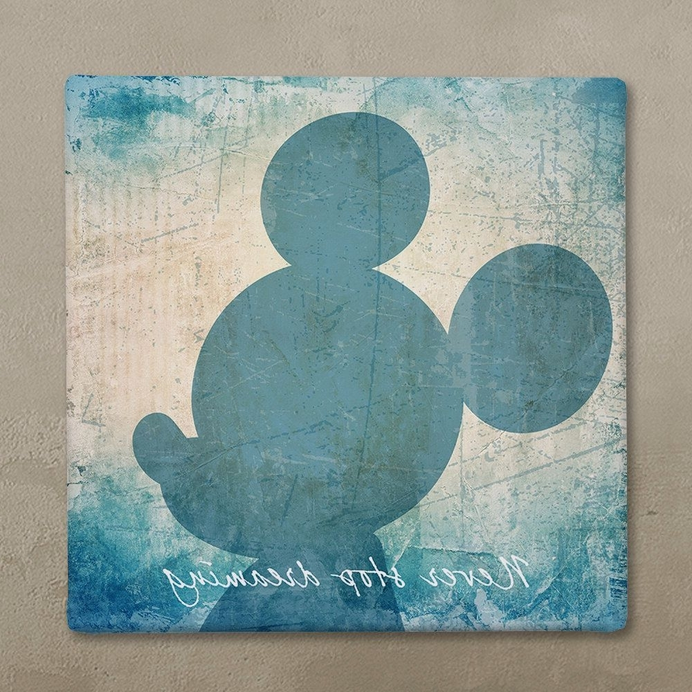 Disney Wall Art Canvas In Vintage Style, Disney Mickey Mouse Canvas For Newest Mickey Mouse Canvas Wall Art (View 1 of 15)