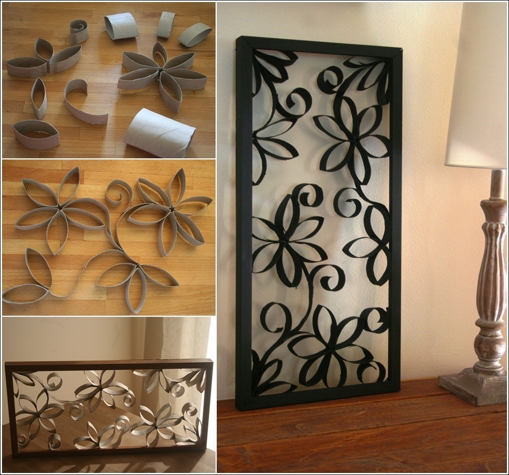 Diy Metal Looking Flower Wall Art From Paper Roll On Wall Art Design With Current Kohl\'s Metal Wall Art (View 1 of 15)