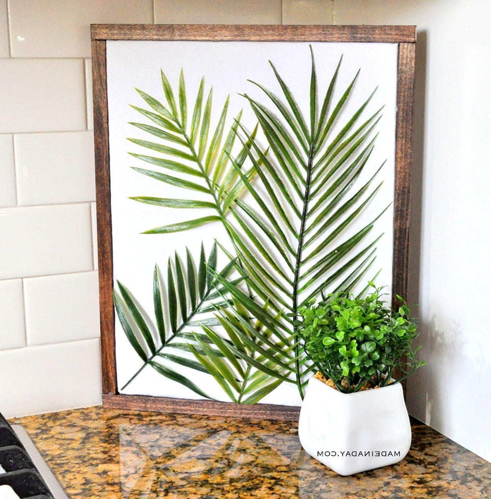 Diy Minimal Framed Palm Wall Art • Made In A Day Pertaining To Latest Diy Wall Art (View 7 of 15)