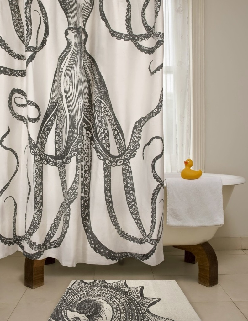 Diy Octopus Art – House Of Jade Interiors Blog In Latest Shower Curtain Wall Art (View 5 of 15)