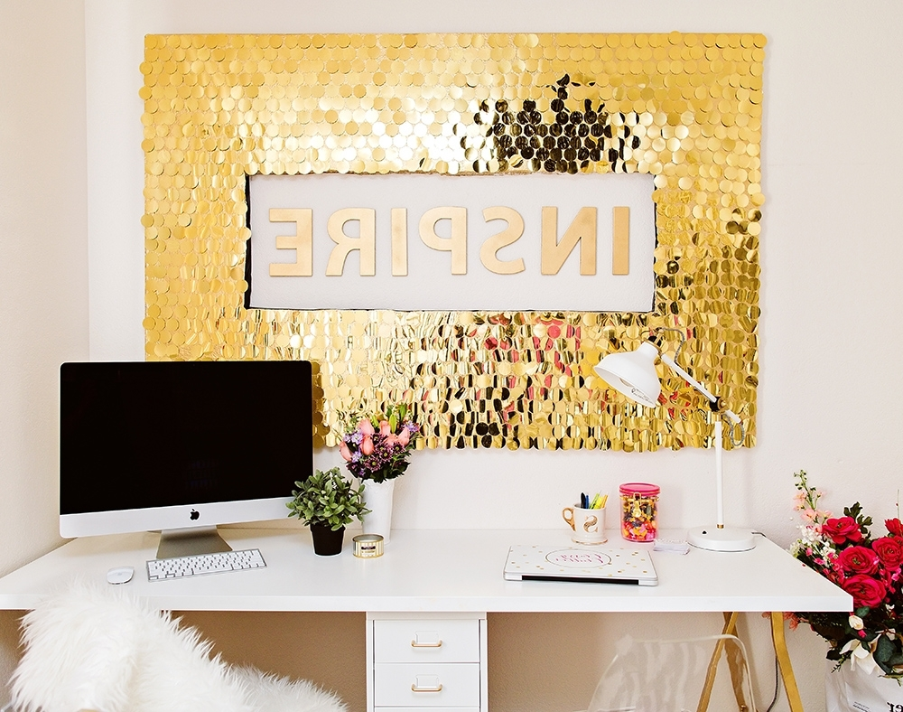 Diy Sequins Wall Art Inside Best And Newest Wall Art Diy (View 7 of 15)