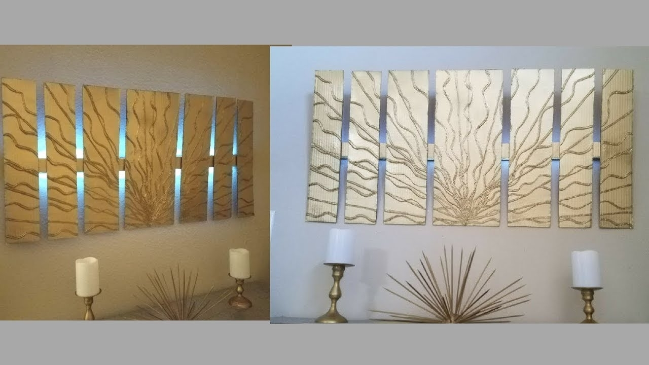 Diy Wall Decor With In Built Lighting Using Cardboards Simple And For Well Known Decorative Wall Art (View 10 of 15)