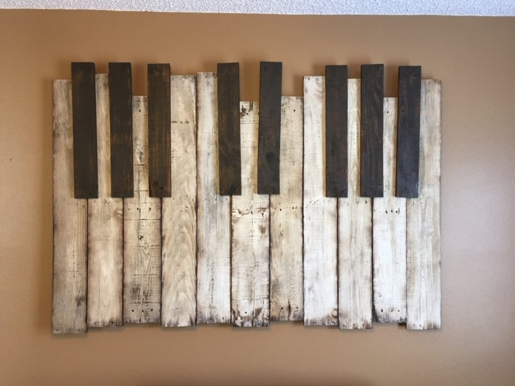 Diy Wooden Pallet Piano Wall Art The Handstand Pinterest Regarding Regarding Well Known Diy Wood Wall Art (View 8 of 15)
