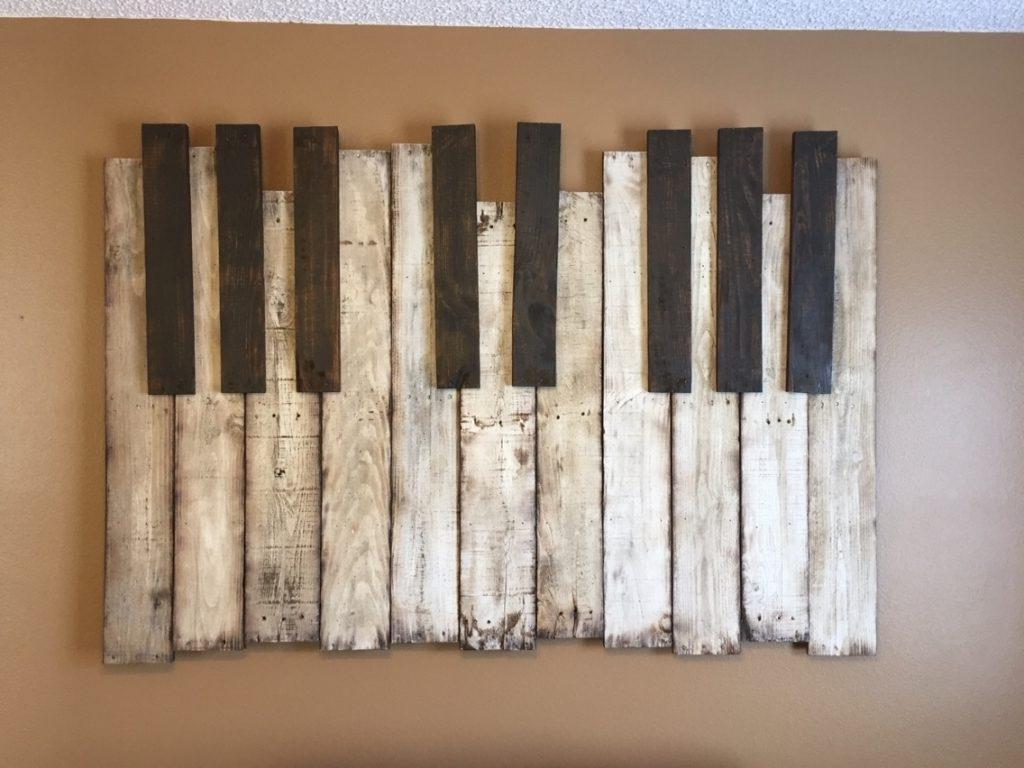 Diy Wooden Pallet Piano Wall Art The Handstand Pinterest Regarding Regarding Well Known Diy Wood Wall Art (View 11 of 15)