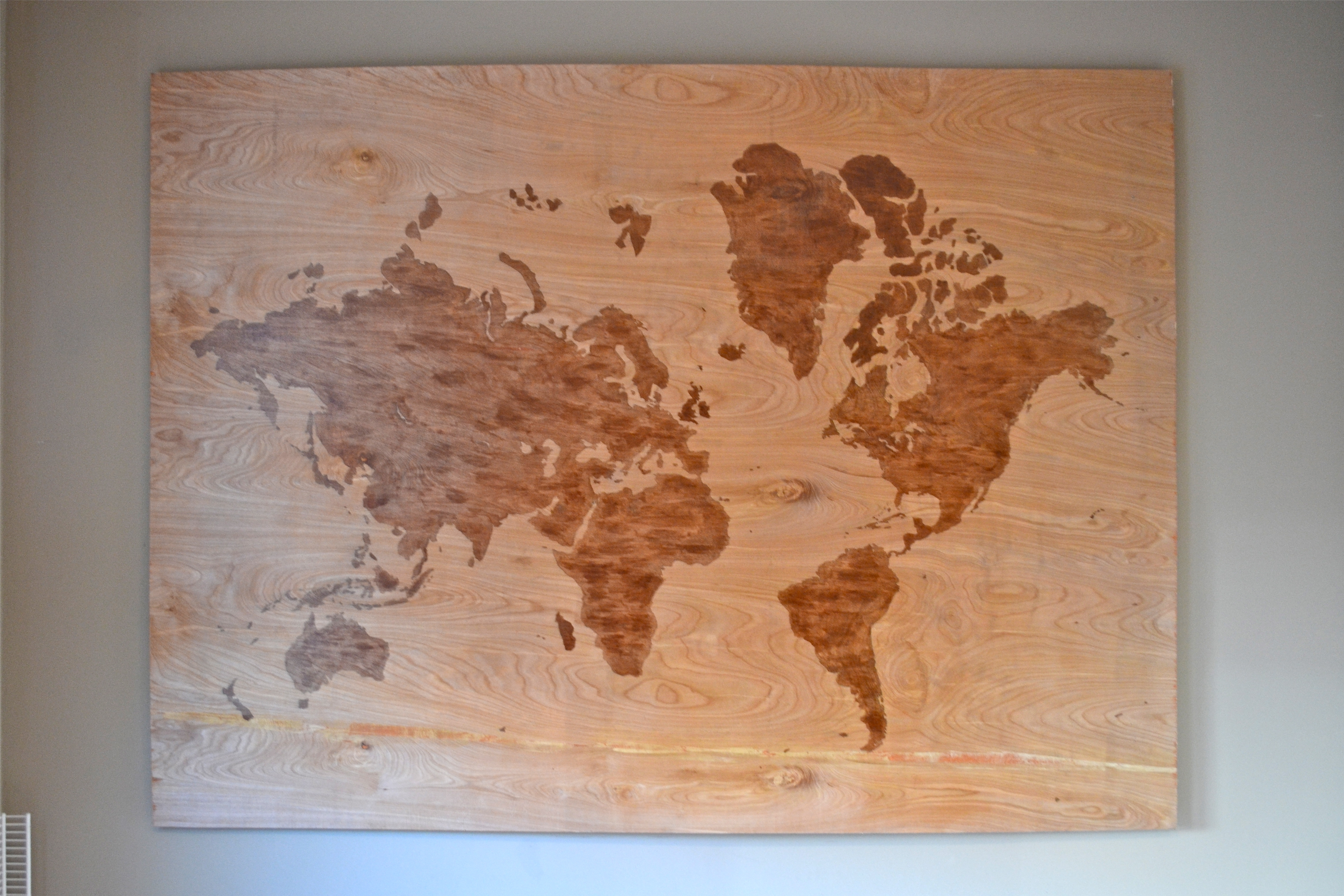 Diy Wooden World Map Art – A Dash Of Megnut Intended For Most Up To Date Diy World Map Wall Art (View 2 of 15)