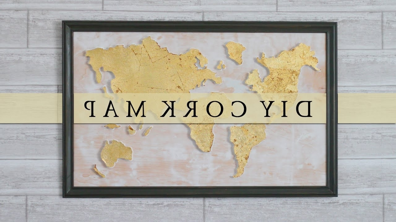 Featured Photo of Diy World Map Wall Art