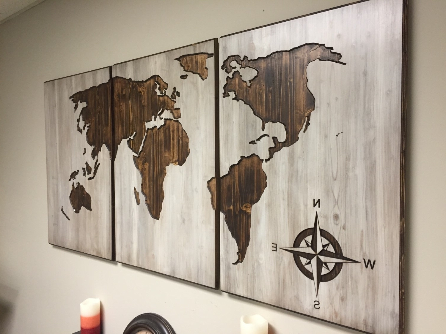 Diy World Map Wall Art Throughout Latest Diy World Map Wall Decor – Arabcooking (View 12 of 15)