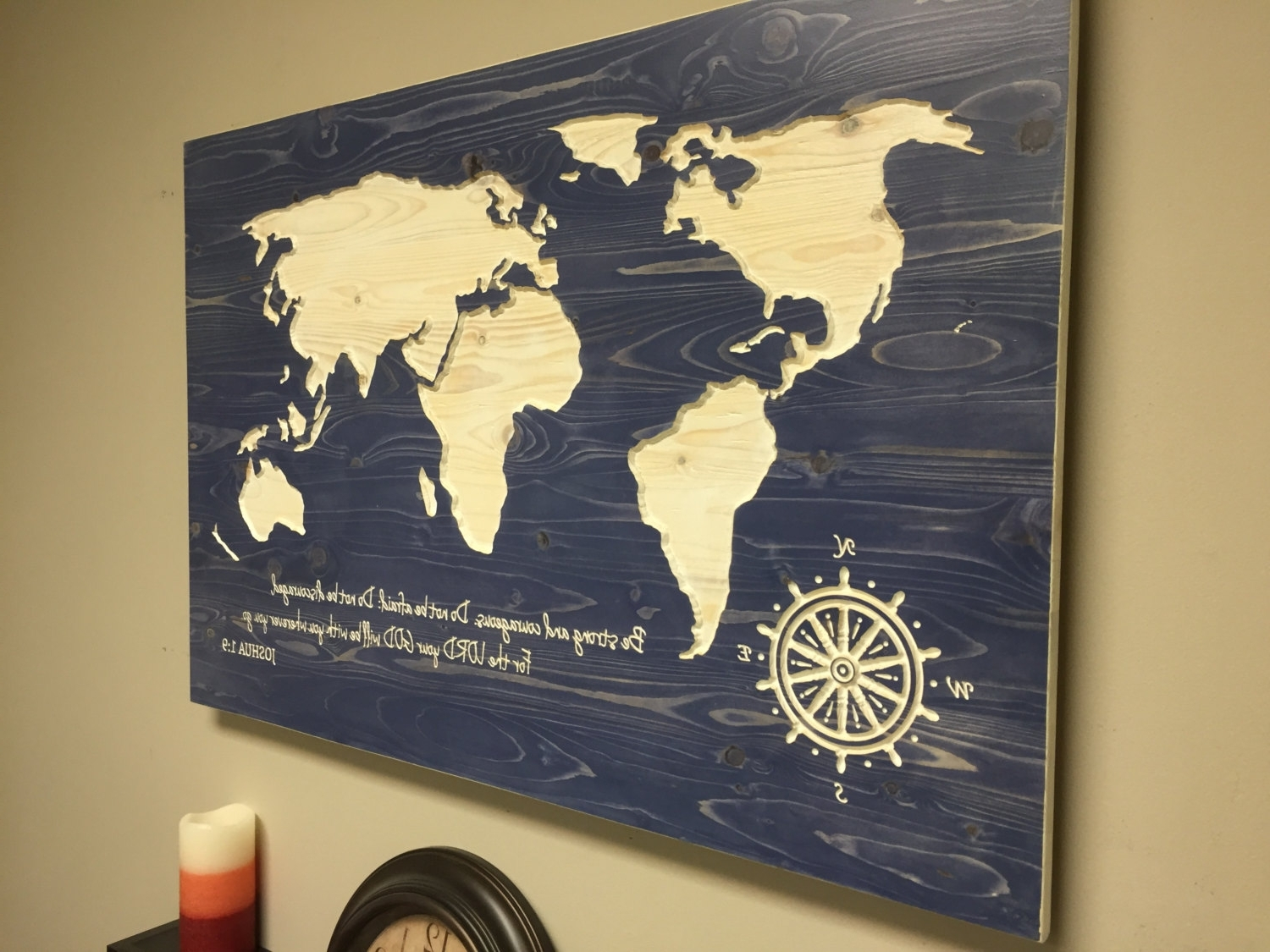 Diy World Map Wall Decor – Artmarketing Intended For Latest Diy World Map Wall Art (View 7 of 15)