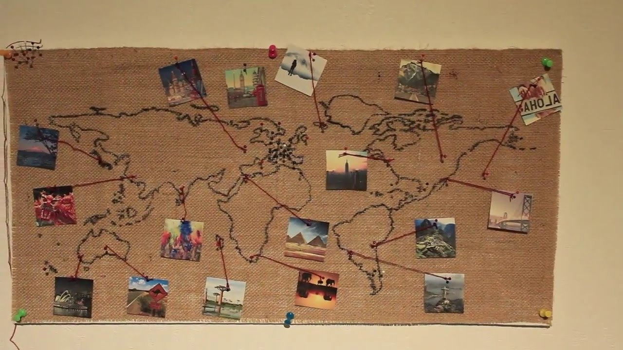 Diy World Map Wall Decor Noavg. Map Of Decor (View 9 of 15)