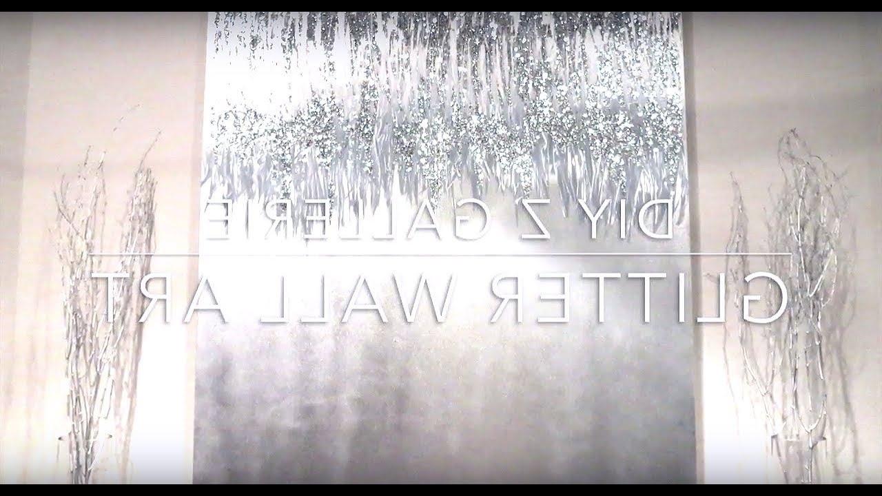 Diy Z Gallerie Glitter Wall Art – Youtube In Most Recent Z Gallerie Wall Art (View 2 of 15)