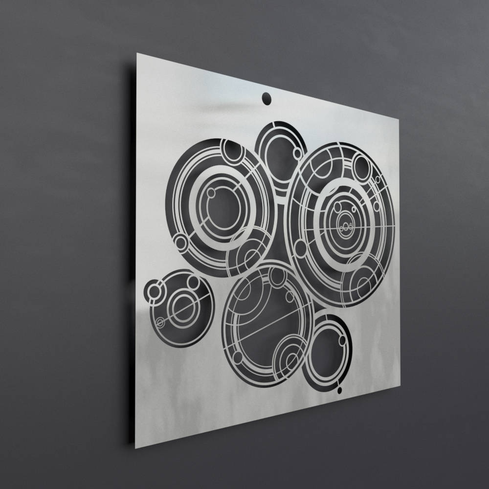 Doctor Who Gallifreyan Metal Wall Art Panel, Science Wall Art Inside Most Current Doctor Who Wall Art (View 14 of 15)