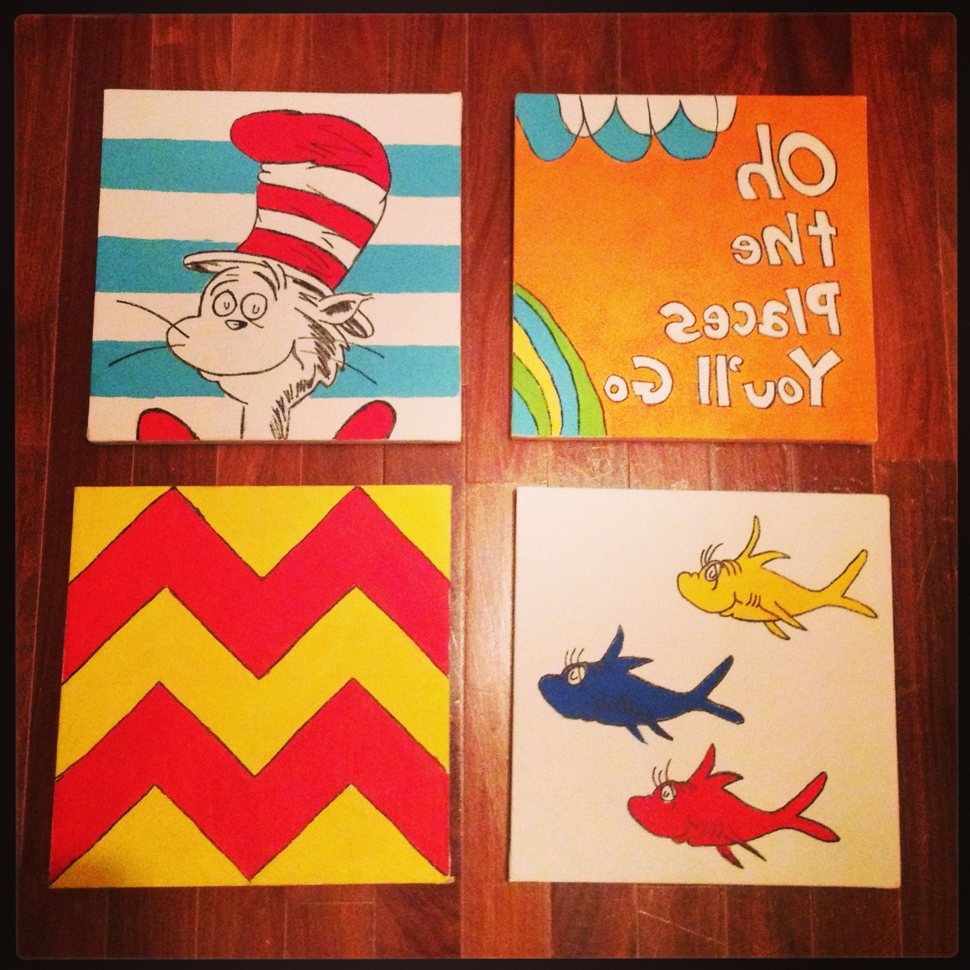 Dr Seuss Wall Art For Current Dr Seuss Wall Art Decor Doneme (Oringinal Pinner) For Omar's (View 4 of 15)