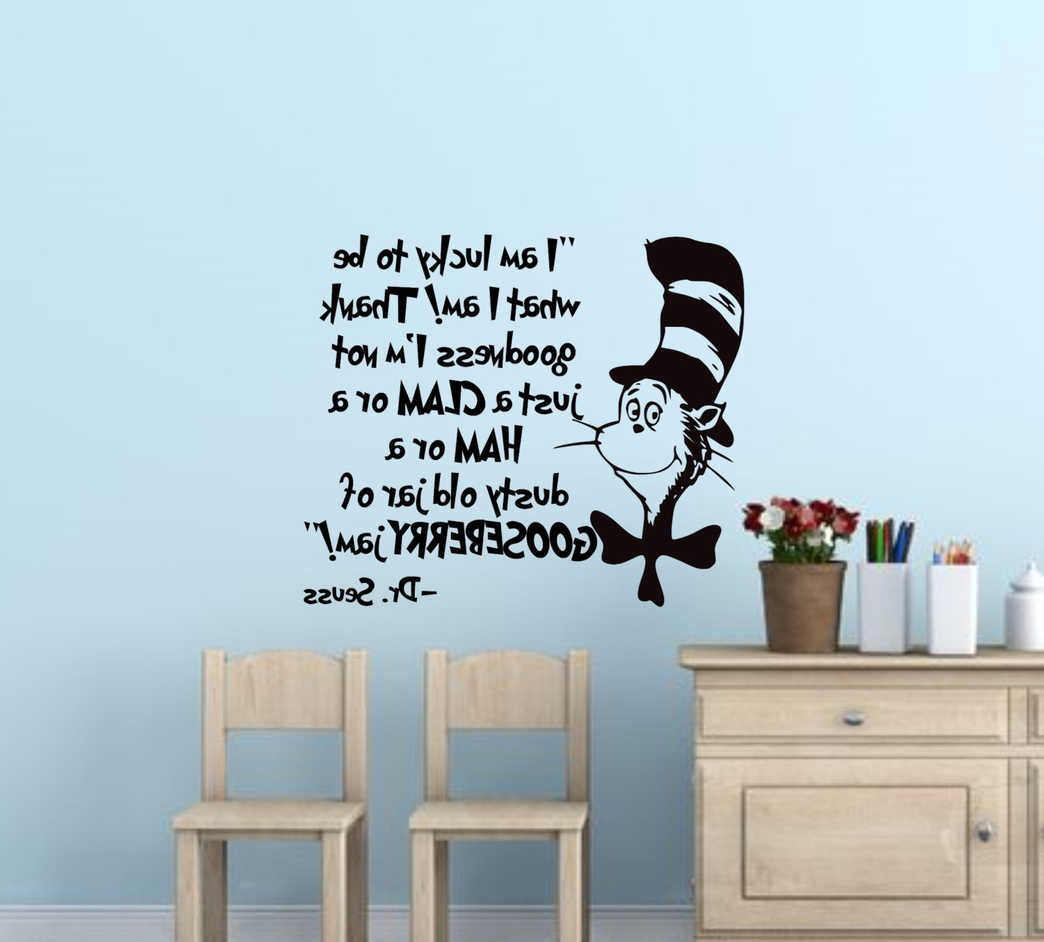 Dr Seuss Wall Decals – Culturehoop In Best And Newest Dr Seuss Wall Art (View 8 of 15)
