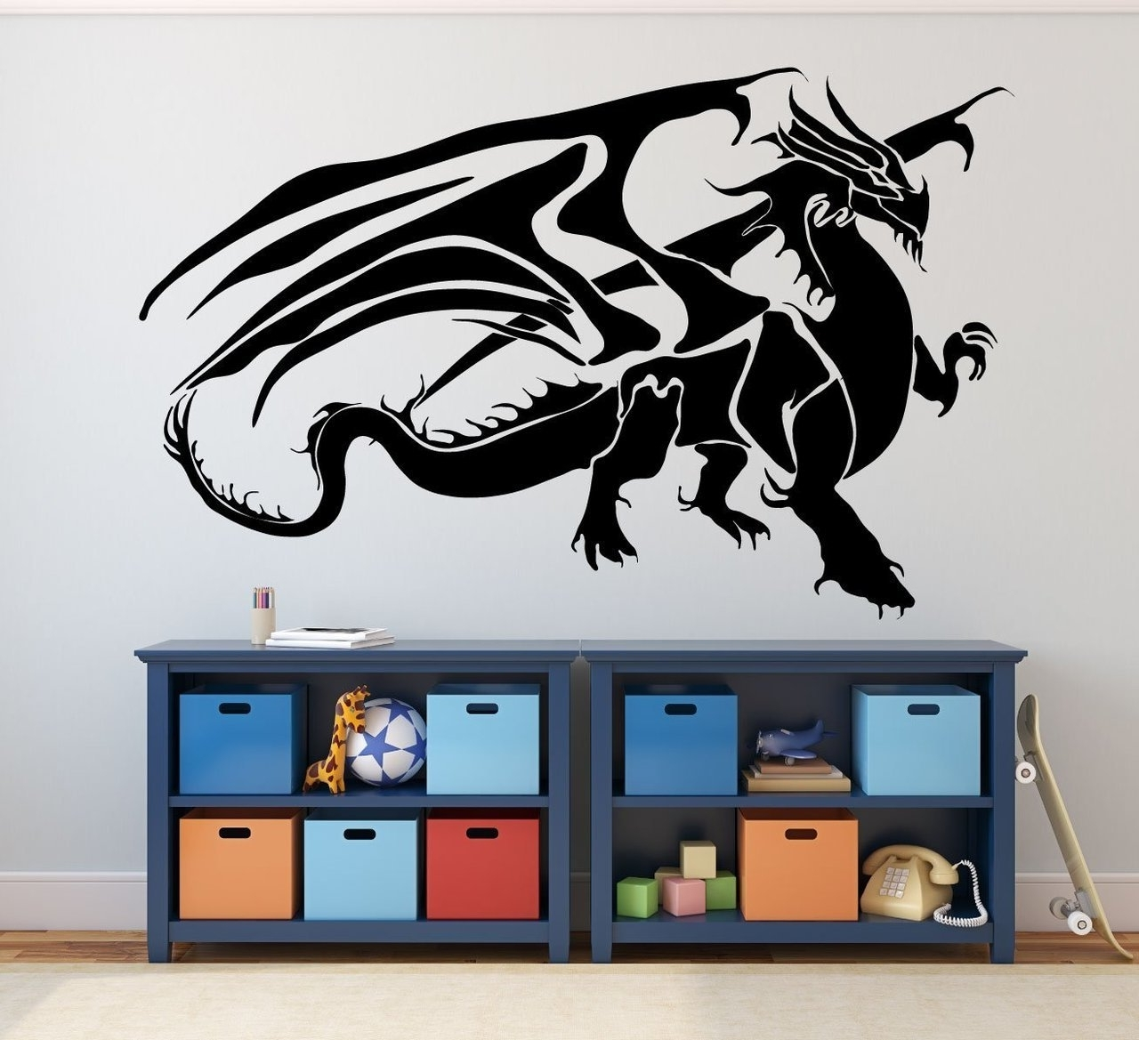 Dragon Wall Art In Well Known Dragon Wall Decals – Fantasy Wall Decor, Medieval Dragon (View 3 of 15)