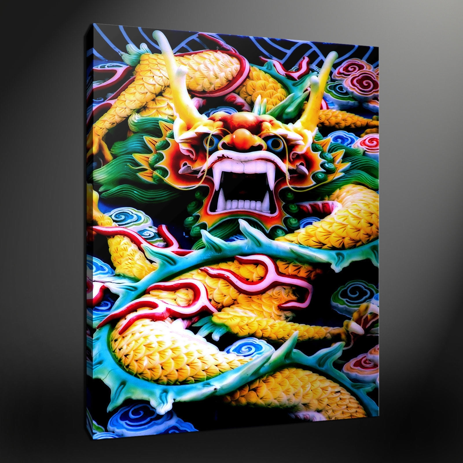 Dragon Wall Art Within Popular Canvas Print Pictures. High Quality, Handmade, Free Next Day Delivery (View 10 of 15)