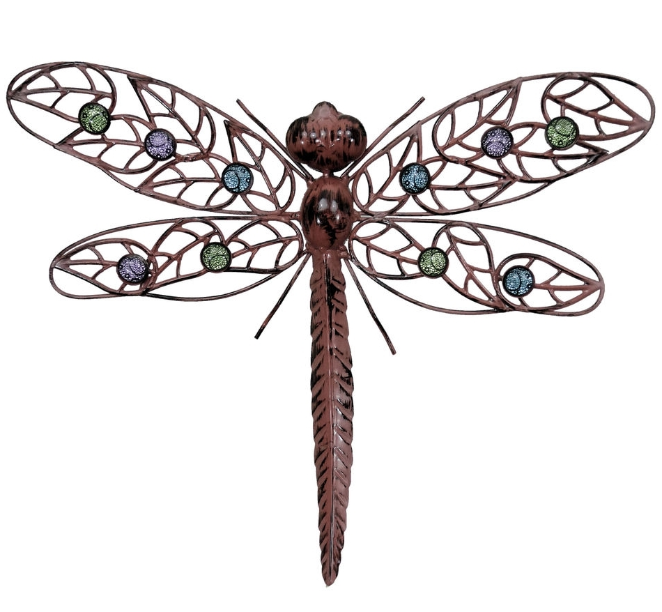 Dragonfly Wall Art Outdoor – Elitflat With Regard To Widely Used Large Outdoor Metal Wall Art (View 12 of 15)