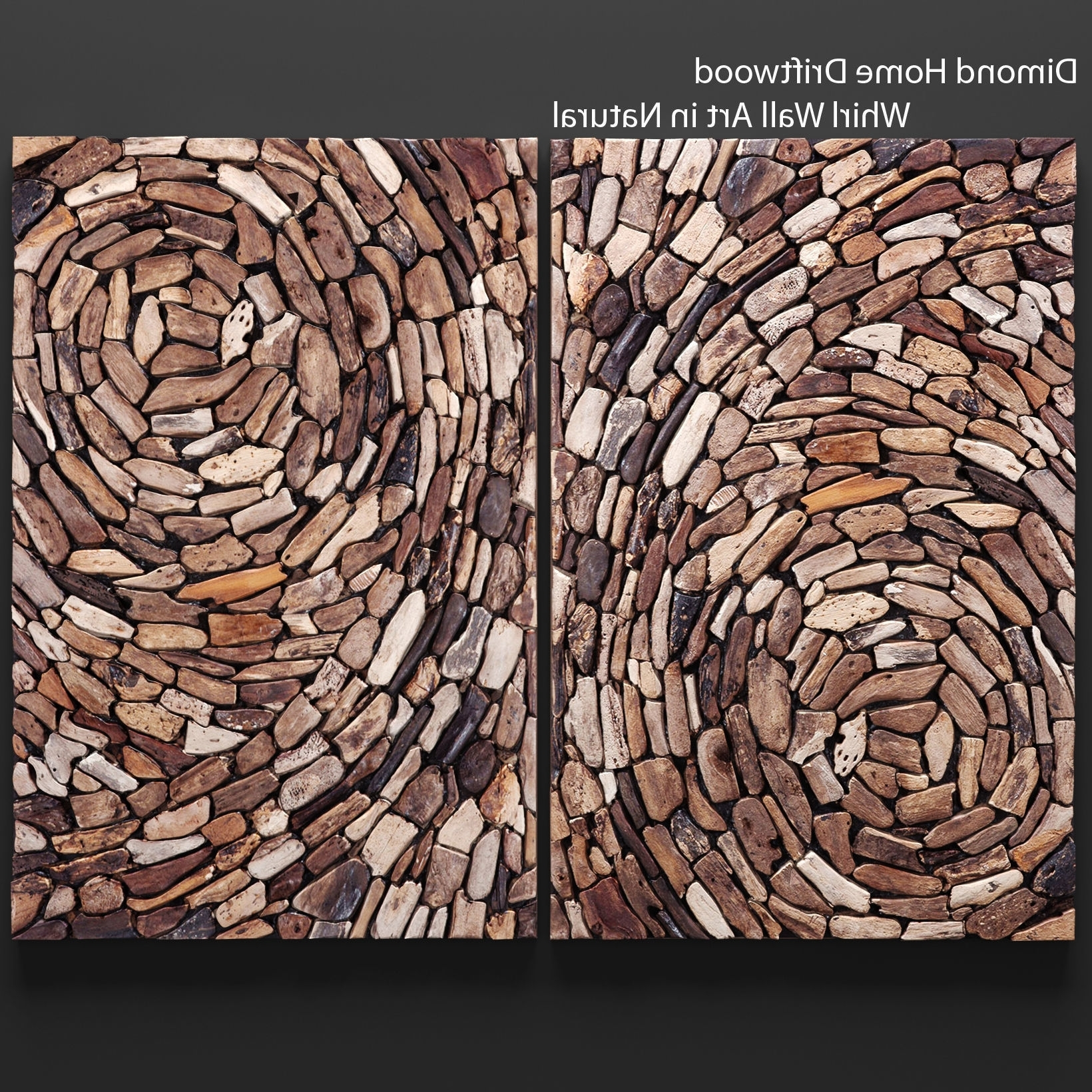 Driftwood Wall Art Throughout Recent Dimond Home Driftwood Whirl Wall Art In Natural 3D Model Max Obj Fbx (View 12 of 15)