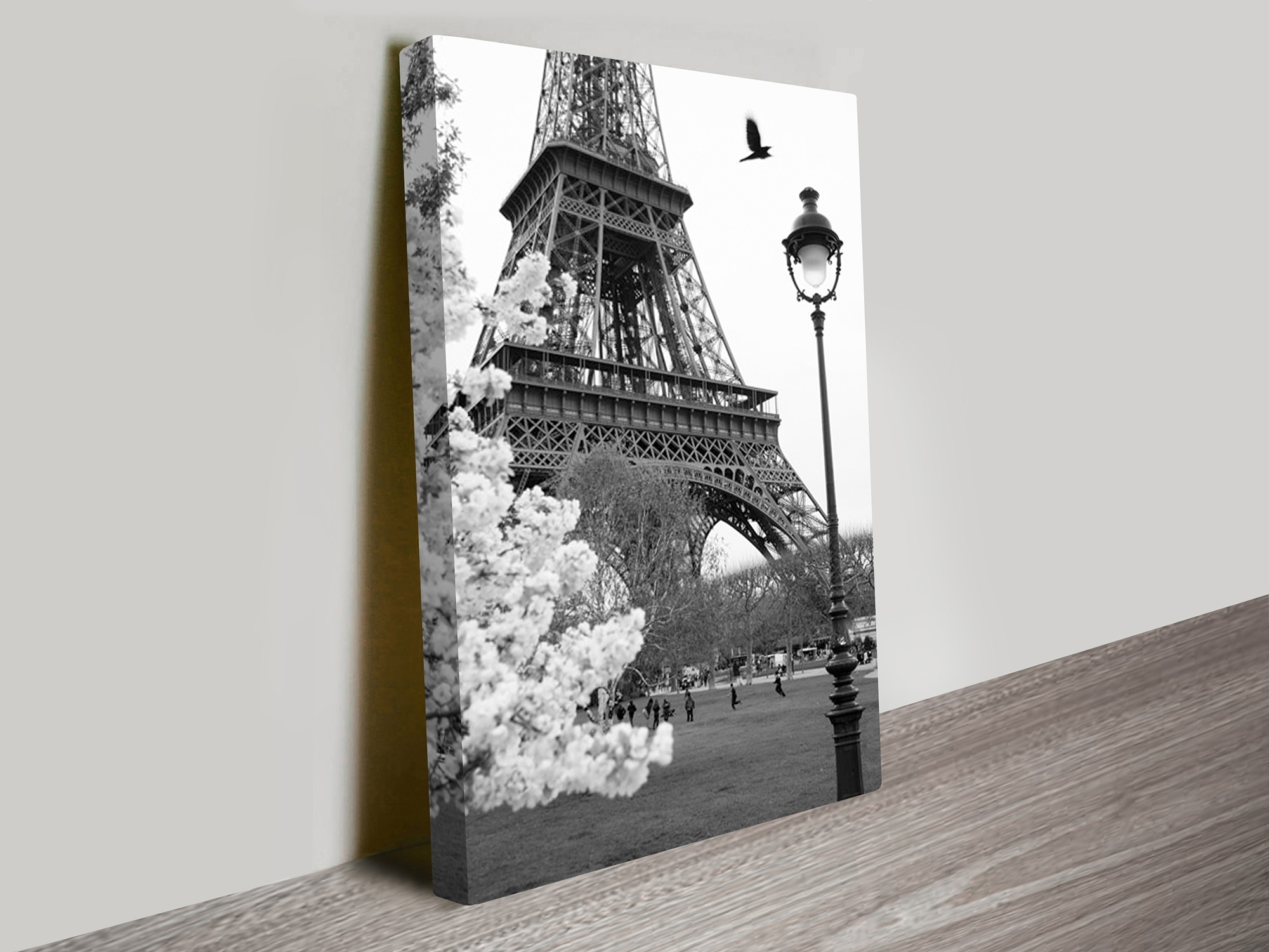 Eiffel Tower Portrait Canvas Artwork Regarding Most Up To Date Eiffel Tower Wall Art (View 3 of 15)