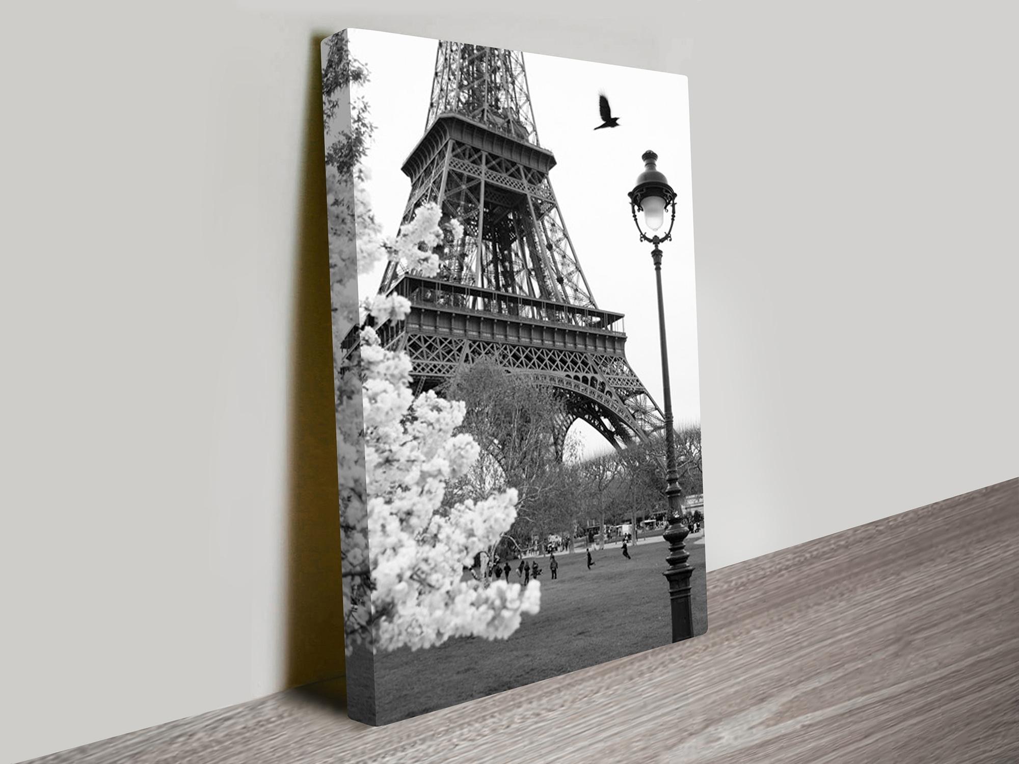 Eiffel Tower Portrait Canvas Artwork Regarding Most Up To Date Eiffel Tower Wall Art (View 4 of 15)
