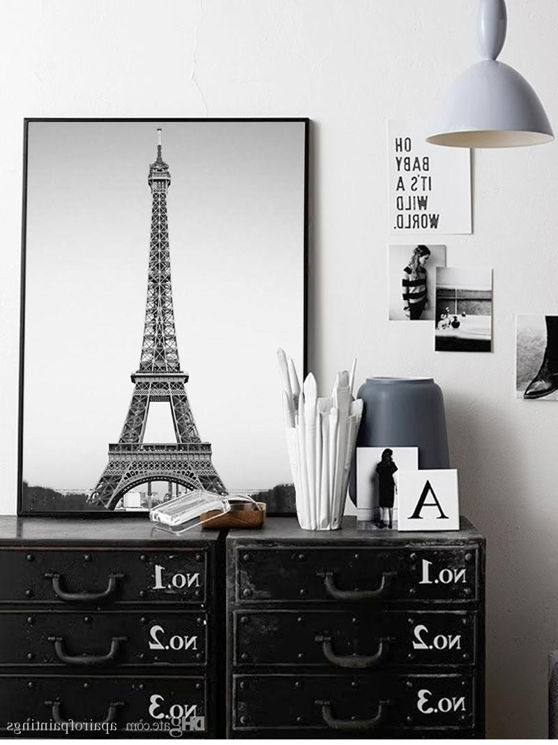 Eiffel Tower Wall Art Intended For 2018 Online Cheap Simple Nordic Home Decor Eiffel Tower Wall Art Fashion (Gallery 13 of 15)