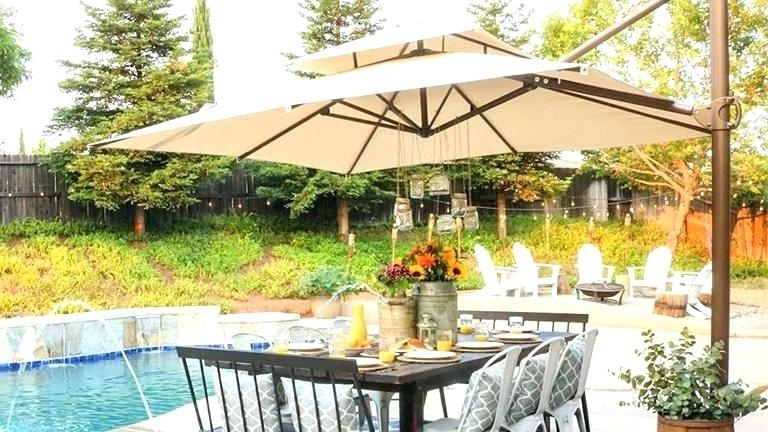 Elegant Offset Patio Umbrella For Southern Best Lowes Fresh Or Large Throughout 2018 Lowes Offset Patio Umbrellas (View 12 of 15)