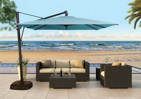 Elegant Outdoor Patio Umbrella 1000 Images About Patio Umbrellas On Pertaining To Most Recently Released Patio Umbrellas With Fans (View 11 of 15)