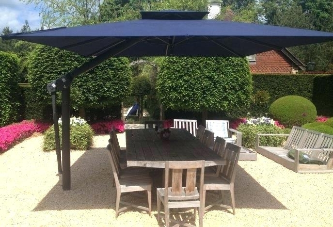 Elegant Rectangle Patio Umbrella For The Patio On Patio Sets And Regarding 2018 Rectangle Patio Umbrellas (View 9 of 15)