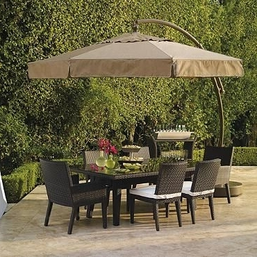 European Patio Umbrellas For Most Popular 11 1/2' European Side Mount Umbrella With Valance From Frontgate (Gallery 8 of 15)