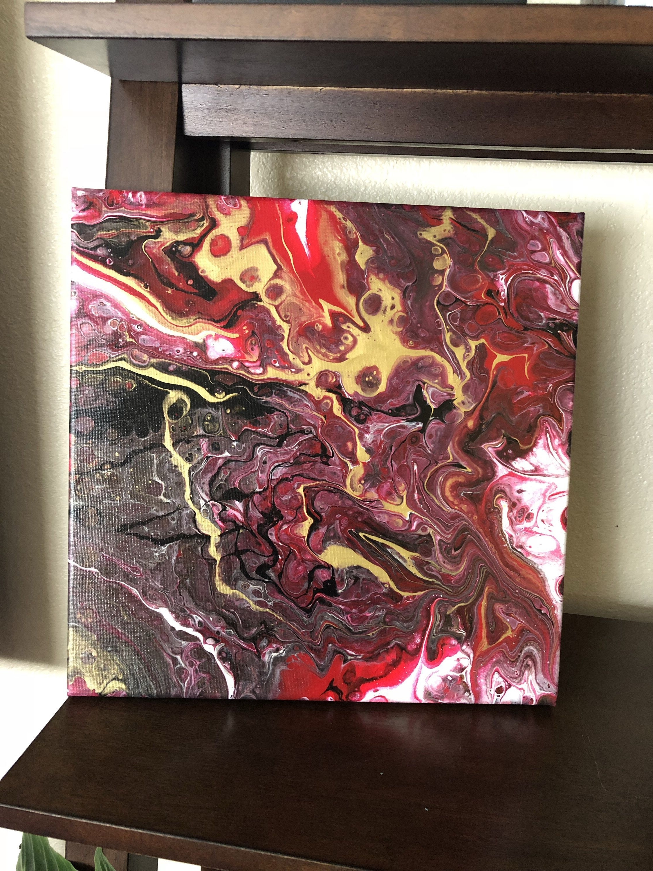 Excited To Share The Latest Addition To My #etsy Shop: Acrylic Fluid Within Widely Used Burgundy Wall Art (Gallery 6 of 15)