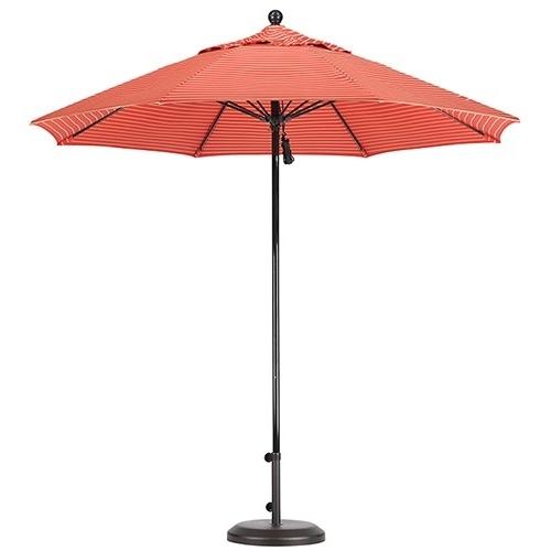 Exotic Patio Umbrellas Intended For 2017 9' Fiberglass Patio Umbrella (Gallery 8 of 15)