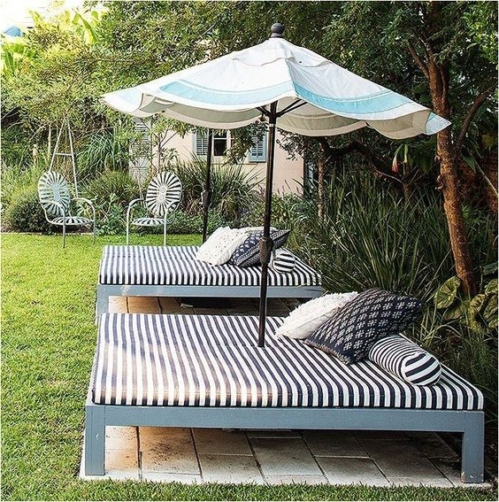 Expensive Patio Umbrellas With Regard To Popular 10 Diy Patio Furniture Ideas That Are Simple And Cheap (View 9 of 15)