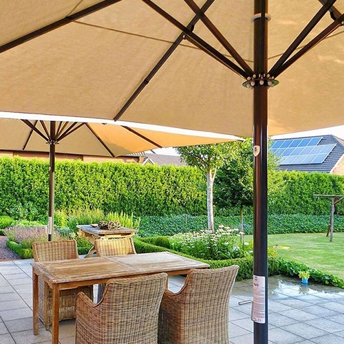 Extended Patio Umbrellas With Most Current Classic: Large Outdoor Patio Umbrellas ( Type T ) – Caddetails (Gallery 10 of 15)