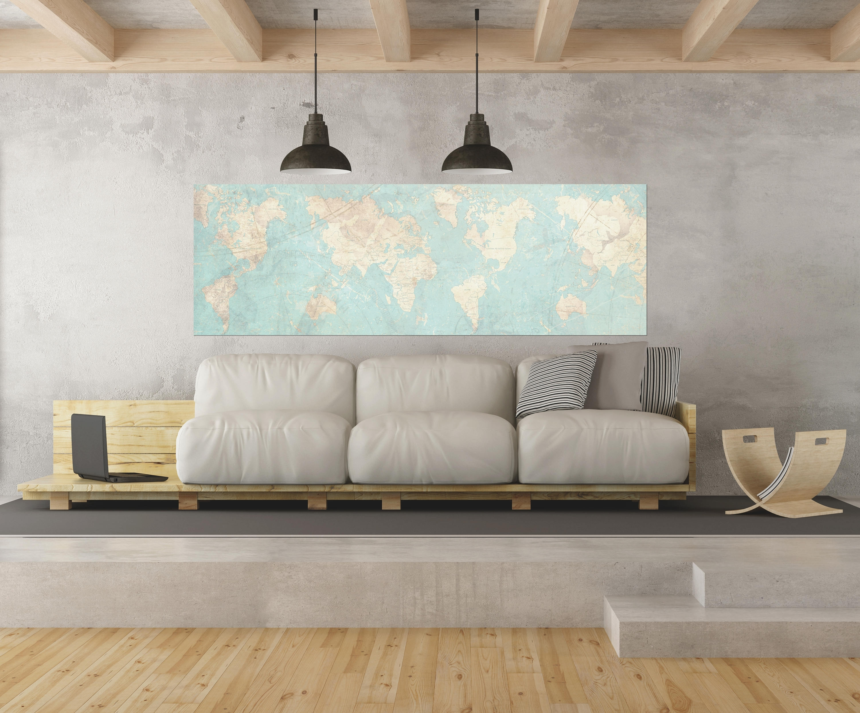 Extra Large Wall Art For Preferred World Map Canvas Print Vintage Map World Map Horizontal Extra Large (View 13 of 15)