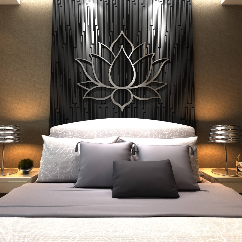 Extra Large Wall Art With Well Liked Xl Lotus Flower Metal Wall Art, Contemporary Sculpture, Extra Large (View 7 of 15)
