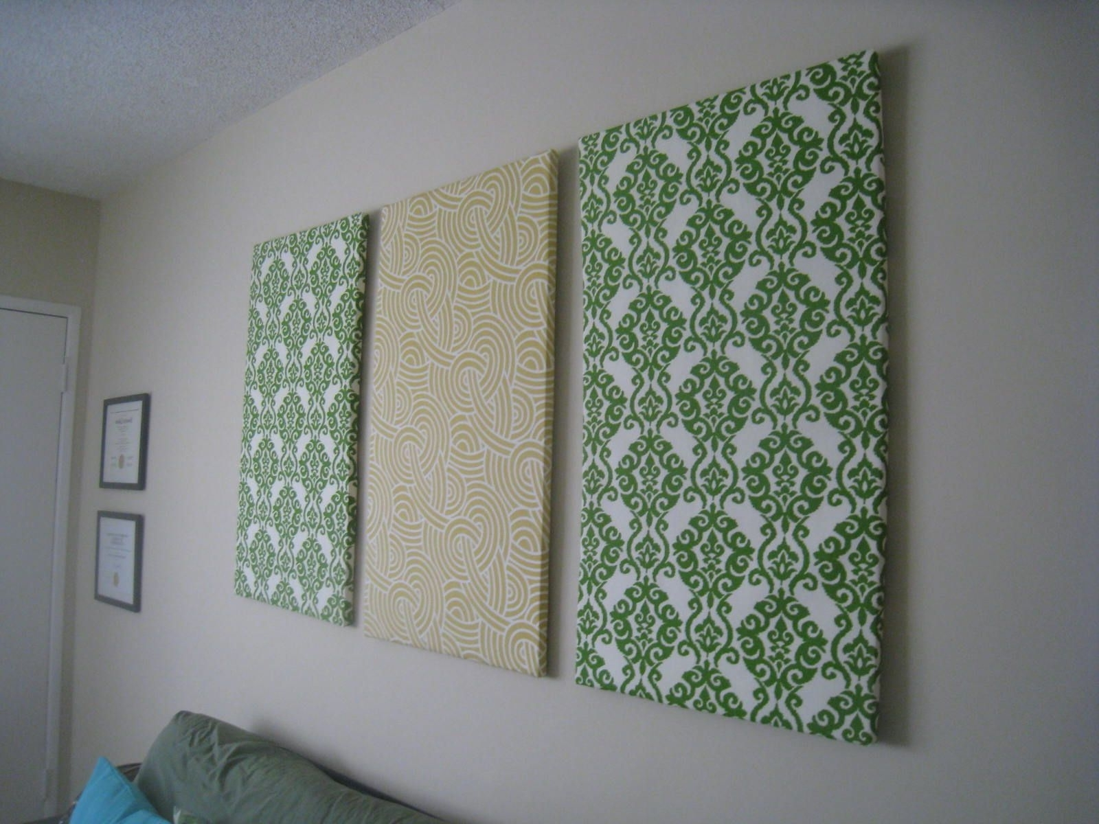 Fabric Wall Art With Regard To Most Recently Released Diy Fabric Wall Art (View 8 of 15)