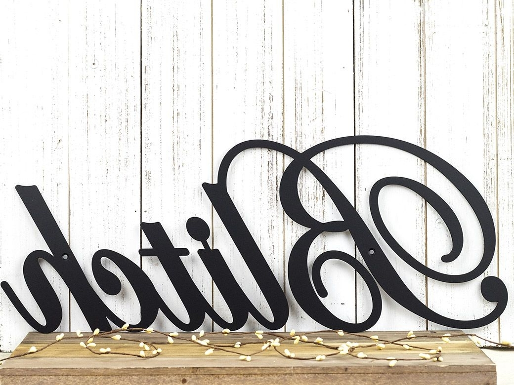 Family Metal Wall Art For Newest Buy A Hand Crafted Family Name Metal Sign (View 15 of 15)