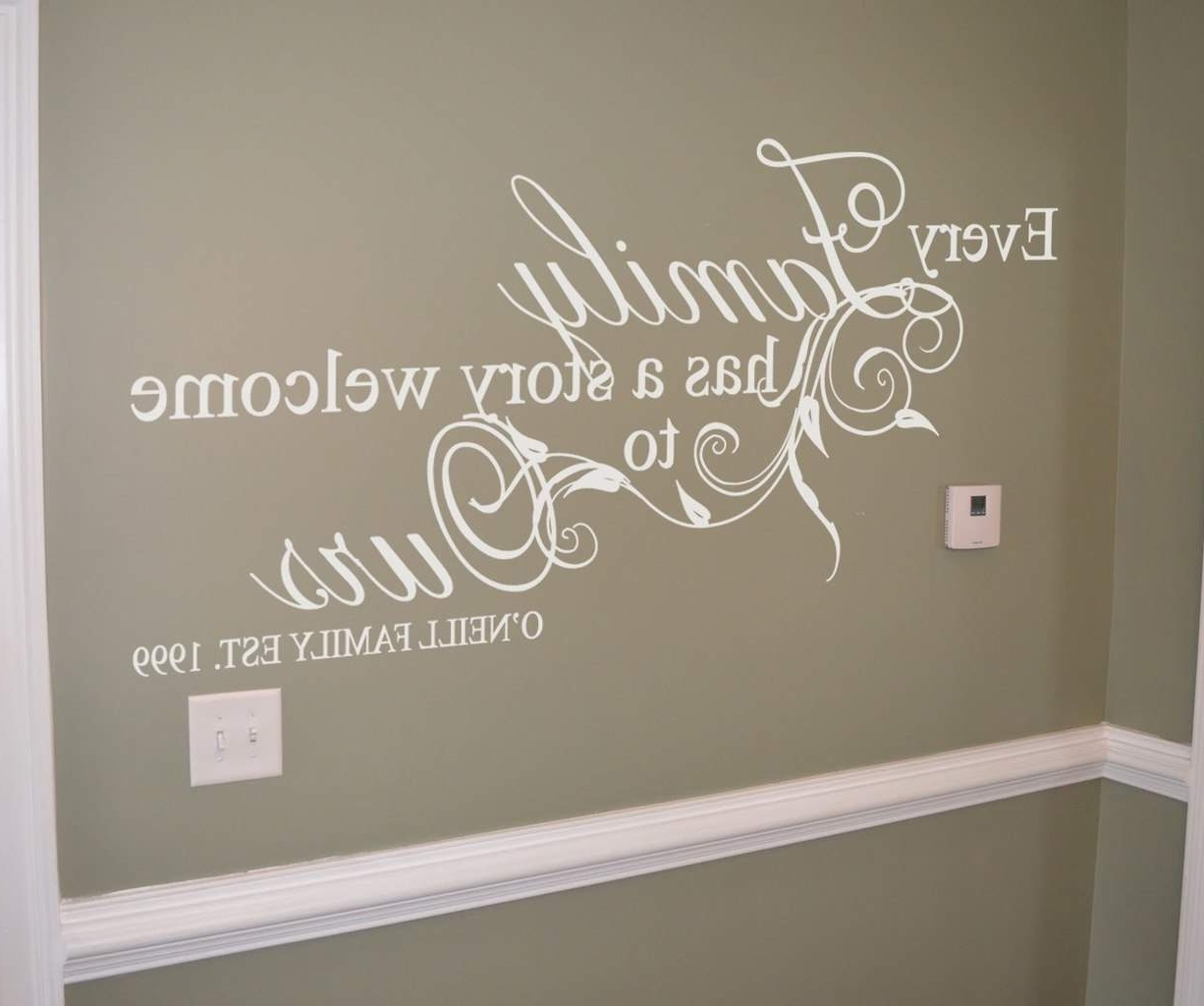 Family Story Personalised Wall Art Decal (View 9 of 15)