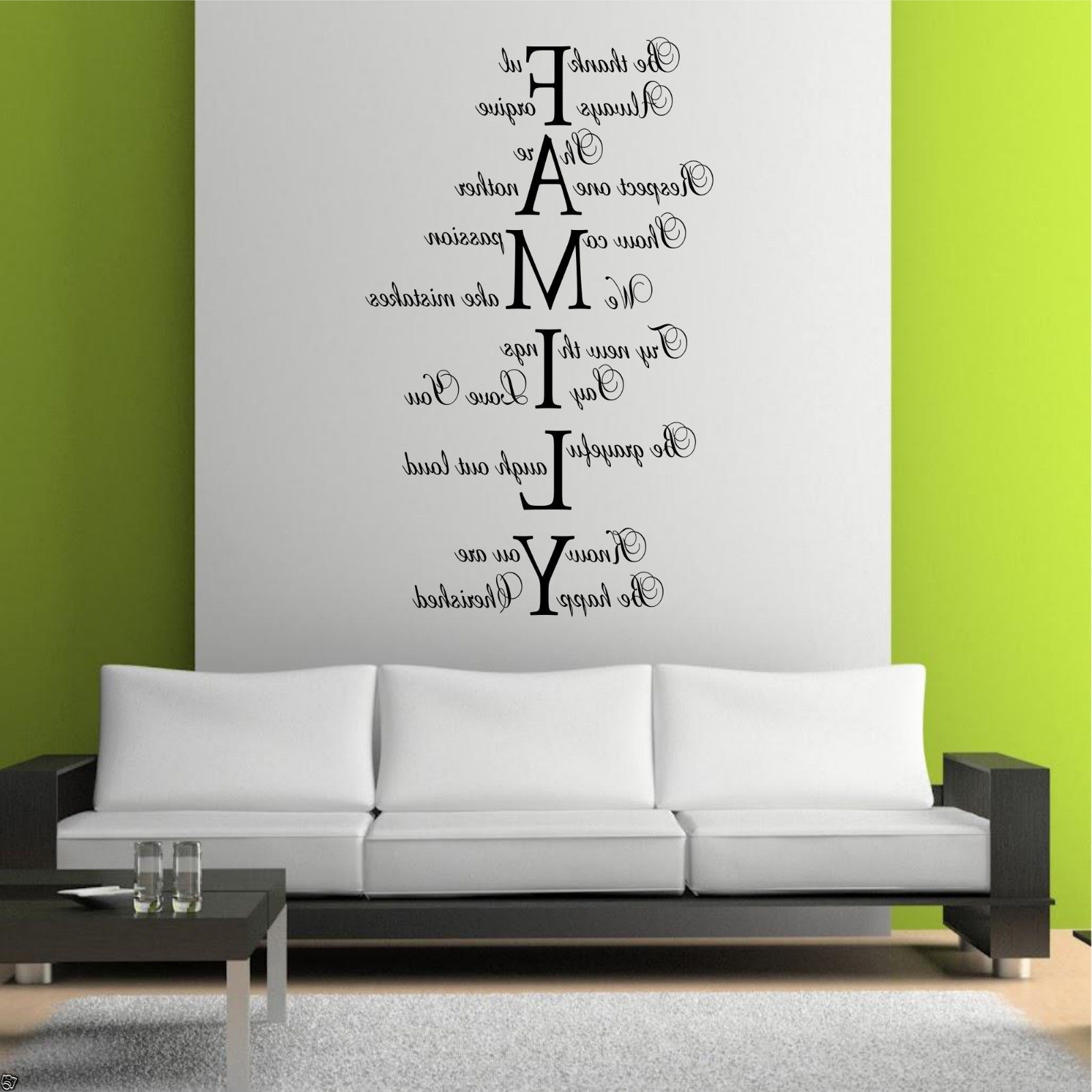Family Wall Art For Preferred Family Love Life Wall Art Sticker Quote Room Decal Mural Transfer (View 3 of 15)