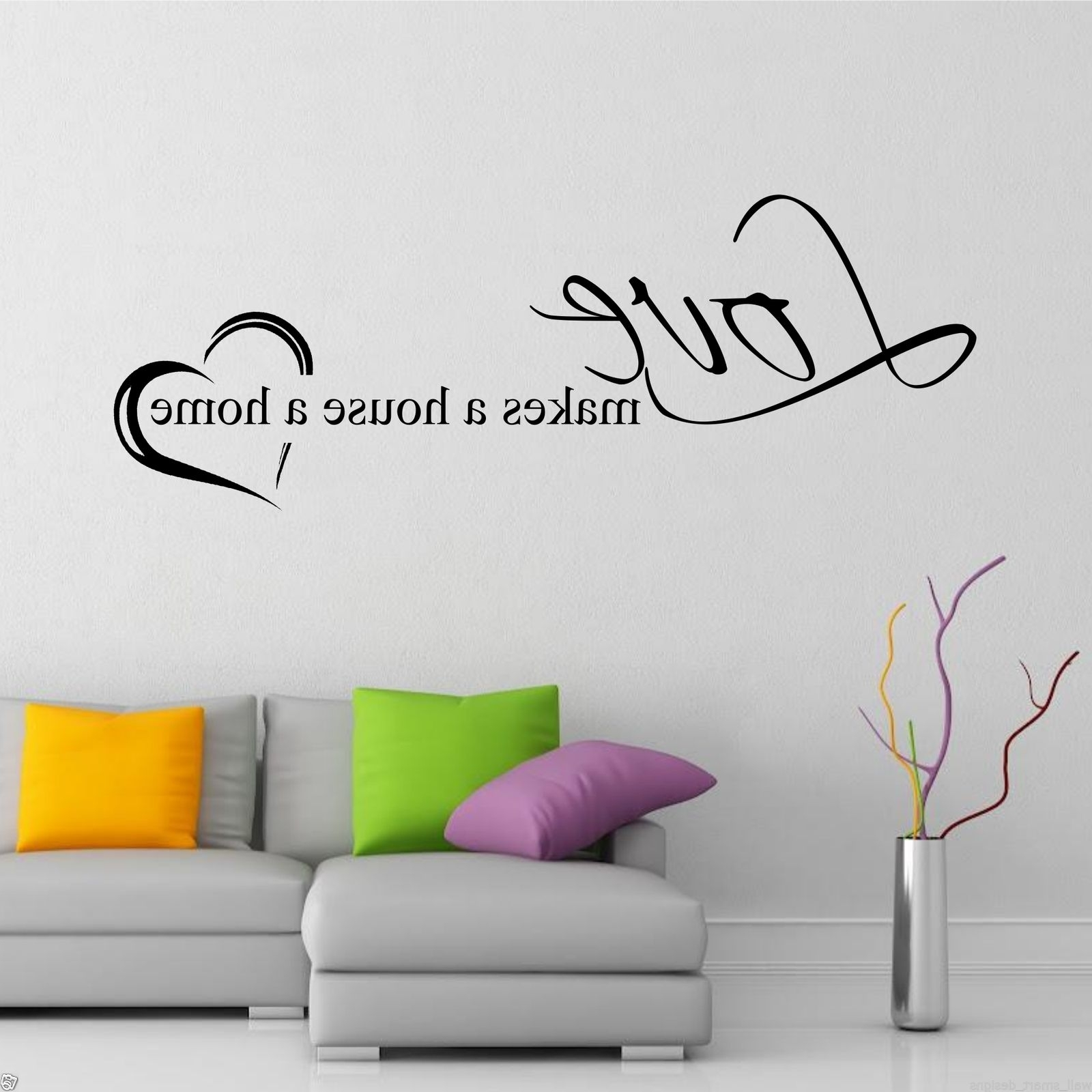 Family Wall Art Intended For 2017 Home Love Family Wall Art Sticker Quote Decal Mural Transfer Graphic (View 4 of 15)
