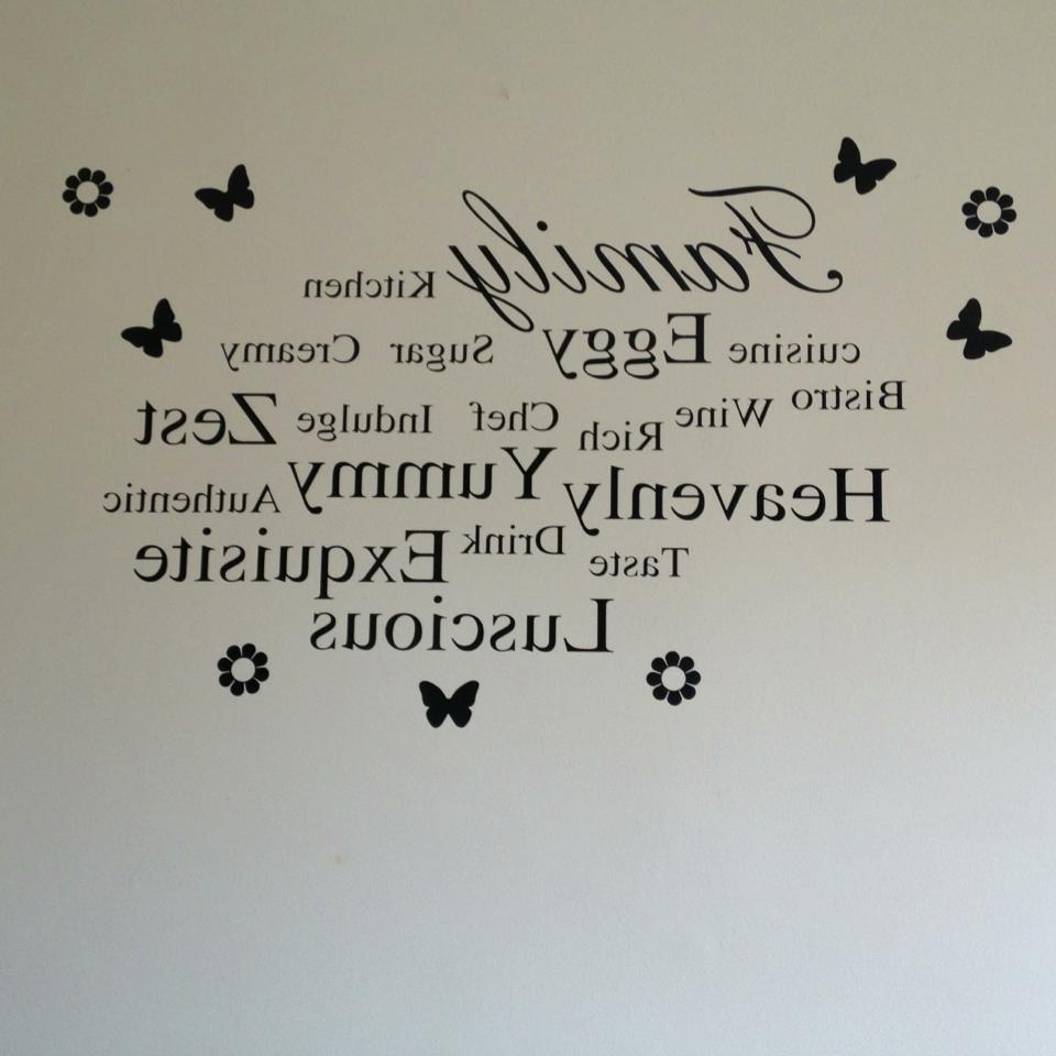 Family & Words Kitchen Wall Art For Recent Word Wall Art (View 3 of 15)