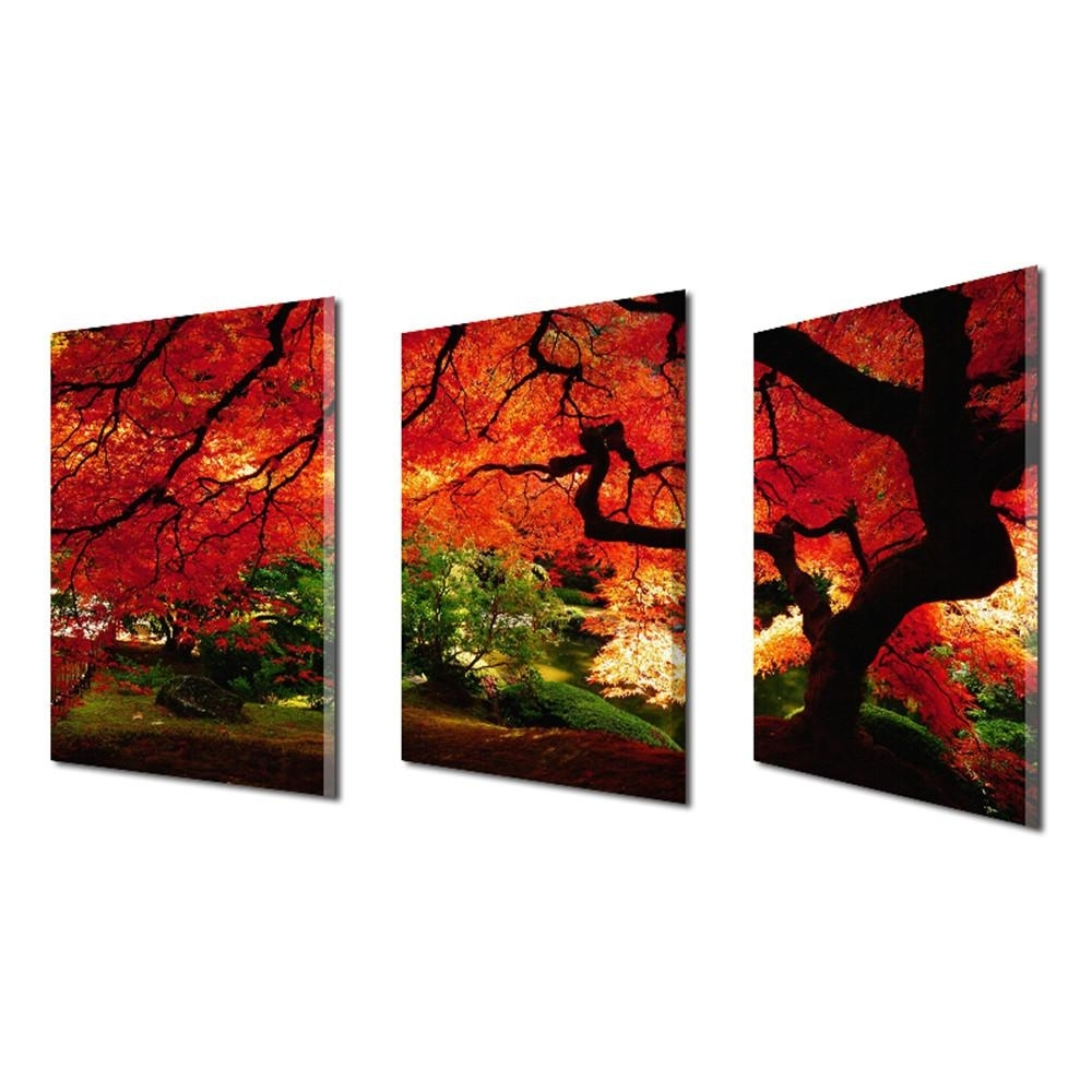 Famous 2018 Frameless Huge Wall Art Oil Painting On Canvas Maple Tree Home Inside Huge Wall Art (View 12 of 15)