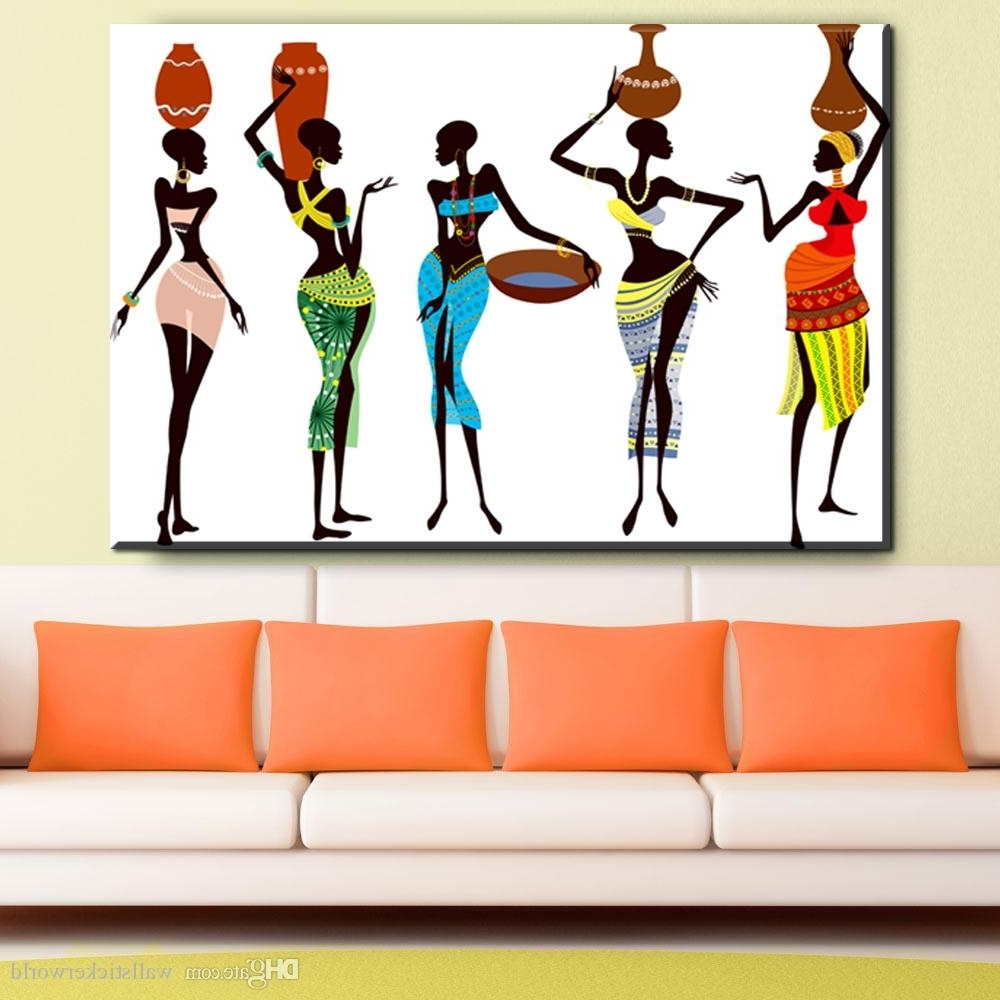 Famous African Wall Art In 2018 African Women Abstract Canvas Art Oil Painting Modern Home (View 13 of 15)