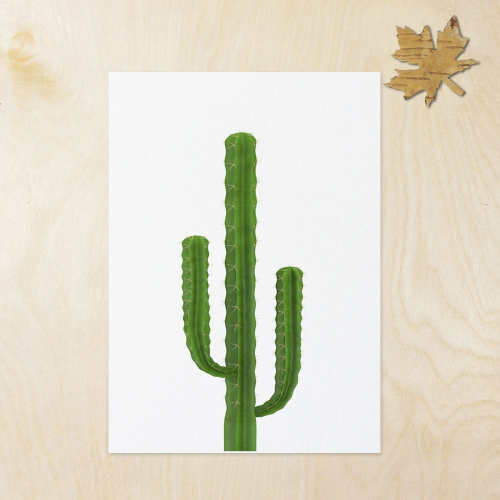 Famous Cactus Wall Art Pertaining To Cactus Inspiration Art Print Wall Art Flower Home Decor Cactus Art (View 8 of 15)