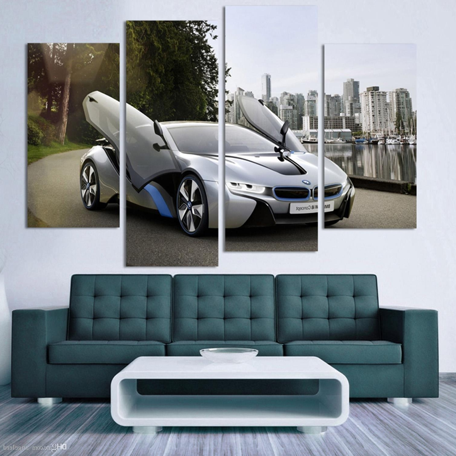Famous Car Canvas Wall Art For Fashion Sport Car Canvas Prints Painting Decoration For Bed Room R (View 5 of 15)