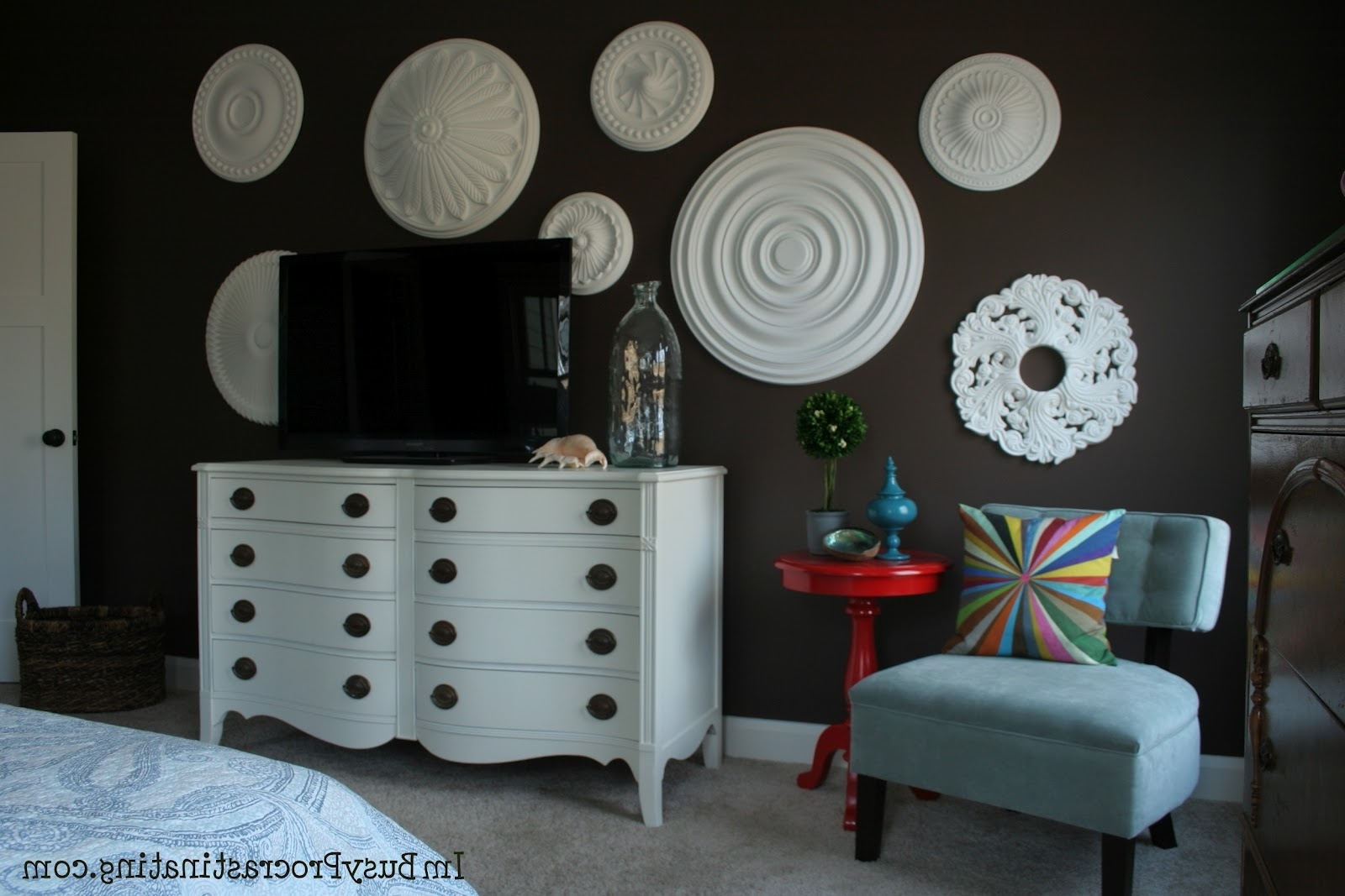 Famous Ceiling Medallion Wall Art Throughout Ceiling Medallion Wall Art – Elitflat (View 6 of 15)