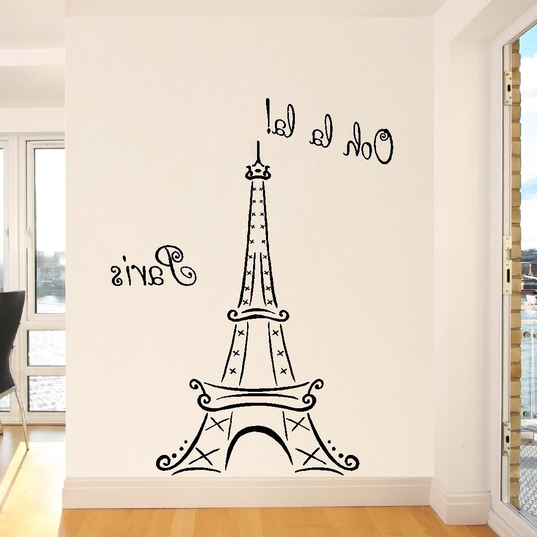 Famous Eiffel Tower Wall Art Within Eiffel Tower Wall Art Sticker : Andrews Living Arts – Eiffel Tower (View 7 of 15)