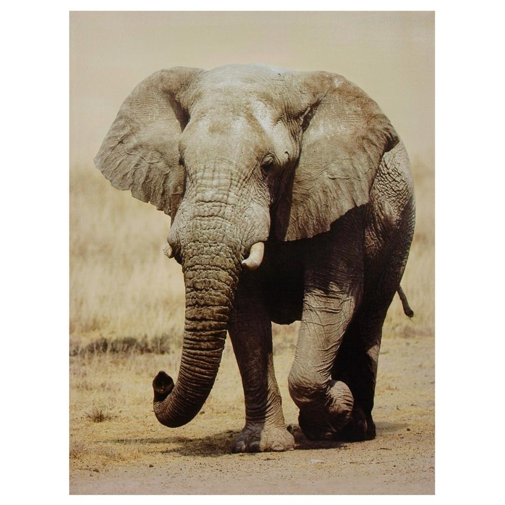Famous Elephant Canvas Wall Art Pertaining To Oriental Furniture 32 In. X 24 In (View 14 of 15)