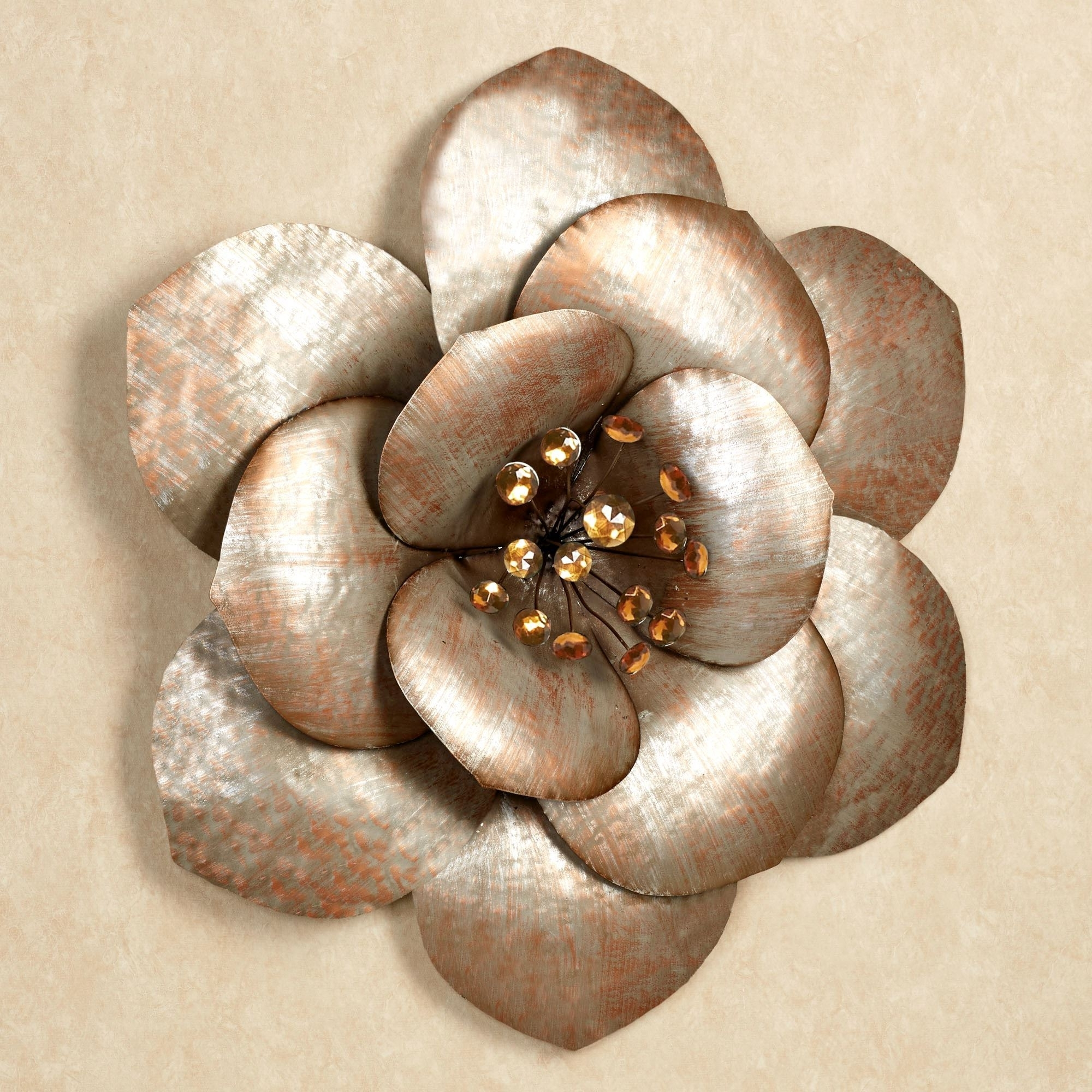 Famous Fiore Gem Flower Blossom Metal Wall Art With Regard To Metal Flower Wall Art (View 3 of 15)