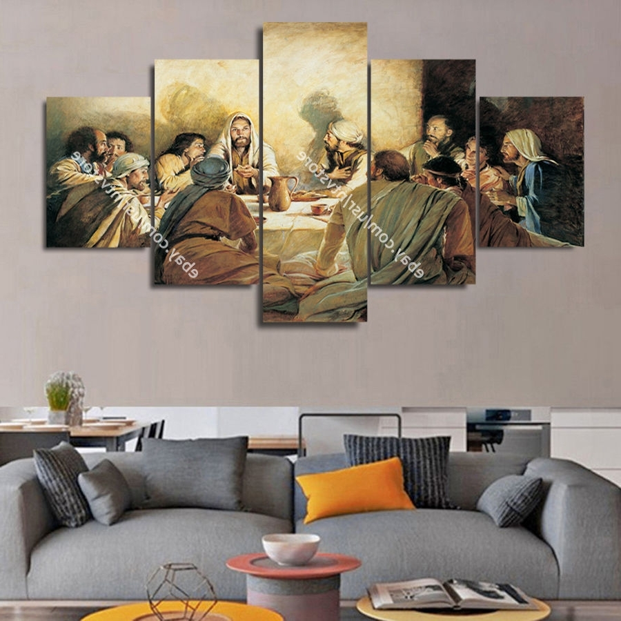 Famous Framed Wall Art For Living Room Pertaining To Jesus Christ Wall Art Framed Canvas Print The Last Supper Christian (View 7 of 15)