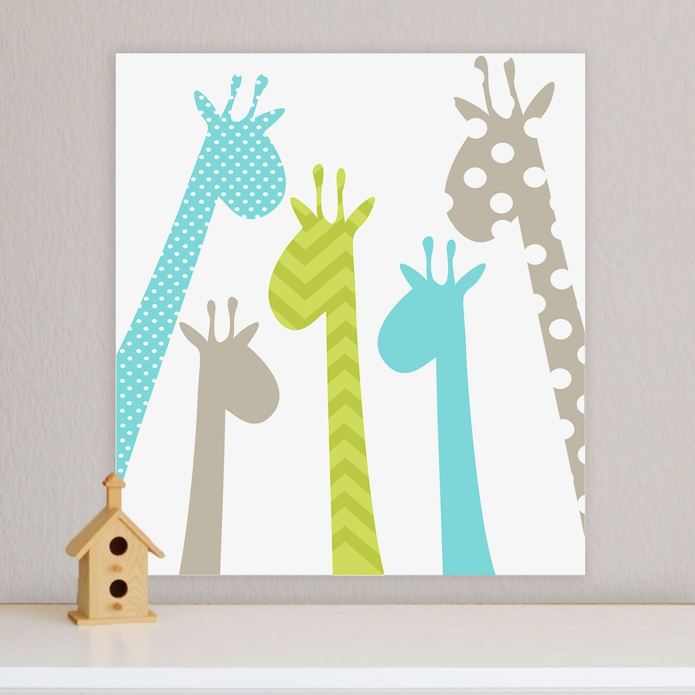 Famous Giraffe, Children's Wall Art, Nursery Wall Art, Giraffe Nursery Intended For Giraffe Canvas Wall Art (View 2 of 15)
